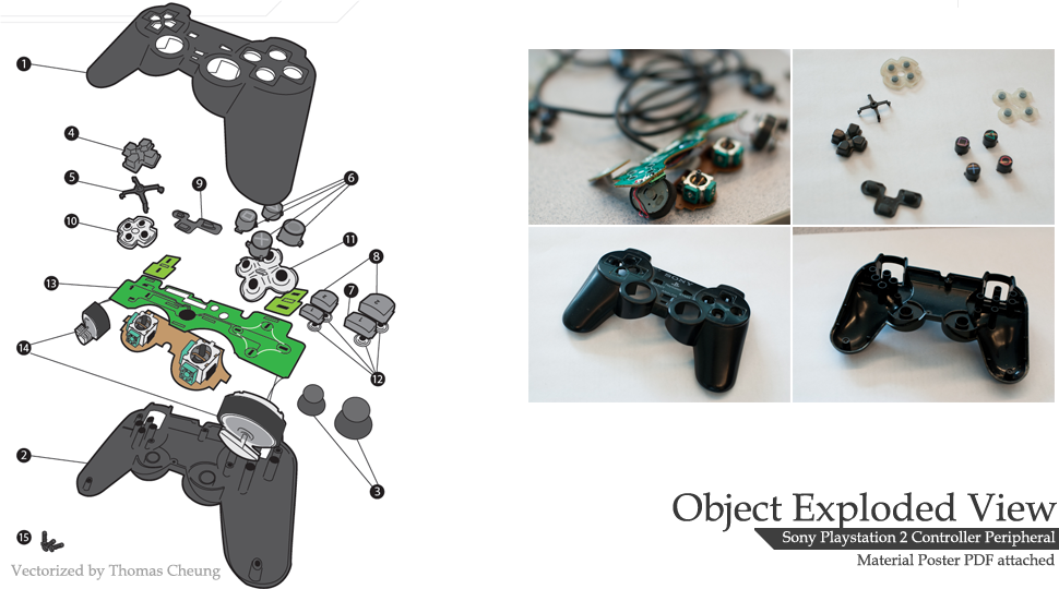 PS2 Controller Exploded