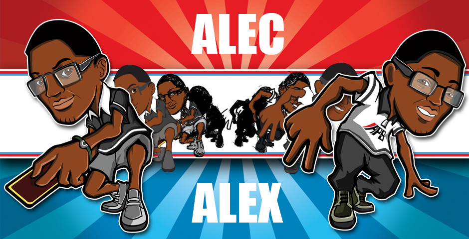 Twins Alec and Alex's Caricatures