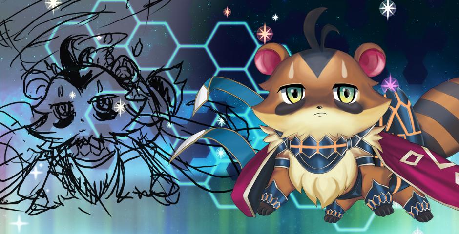 Majespecter Raccoon Sketch