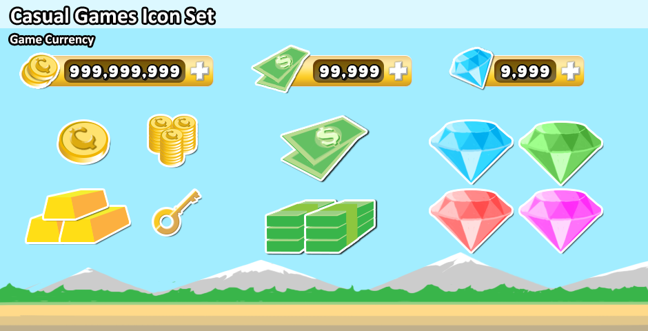 Casual Game Currency Icons
